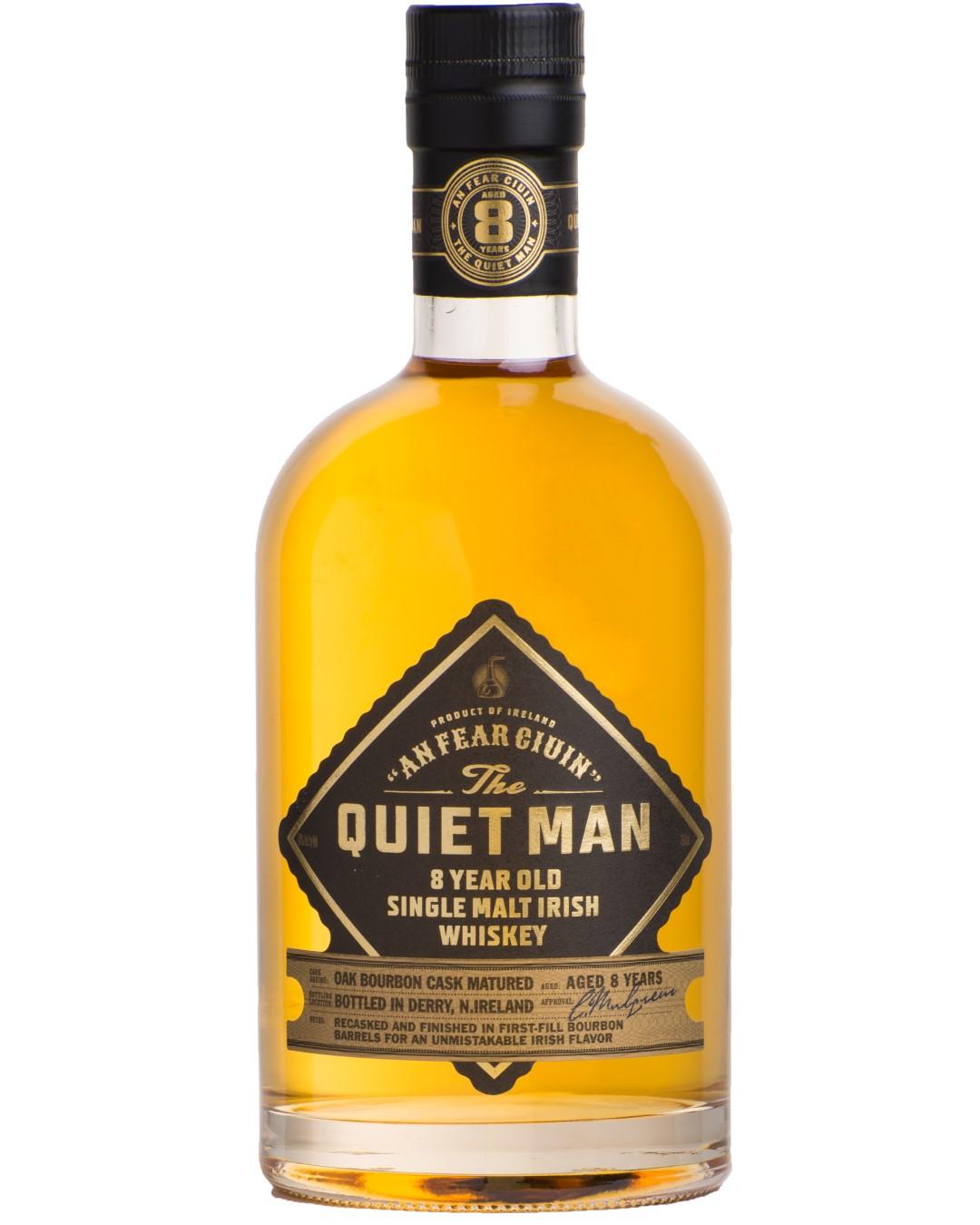 The Quiet Man Single Malt 8 Years Old Irish Whiskey