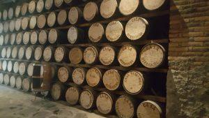 Tequila aging barrels