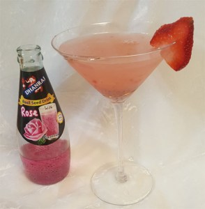 Rose Basil Seed Martini
