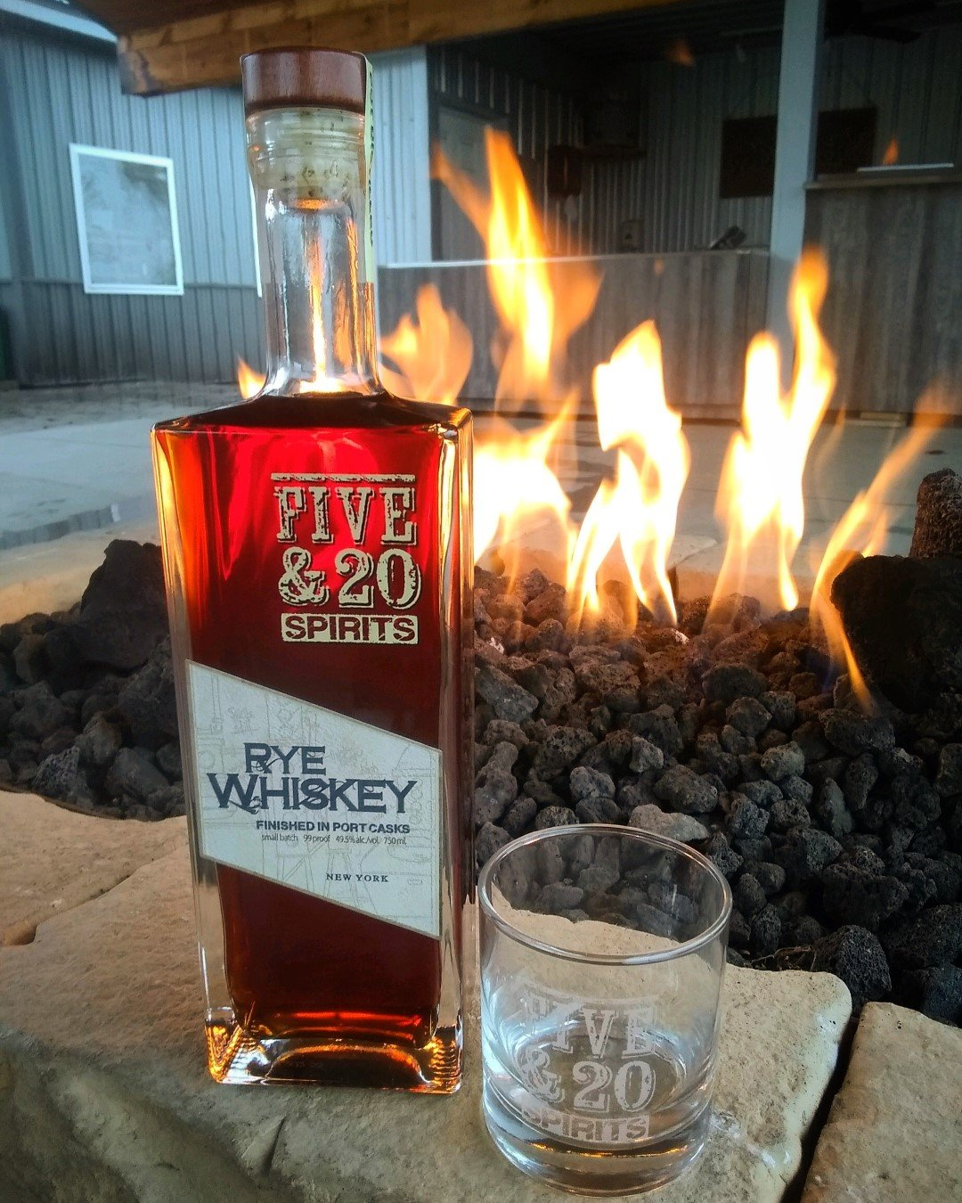 Five & 20 Spirits Rye Whiskey Finished in Port Casks