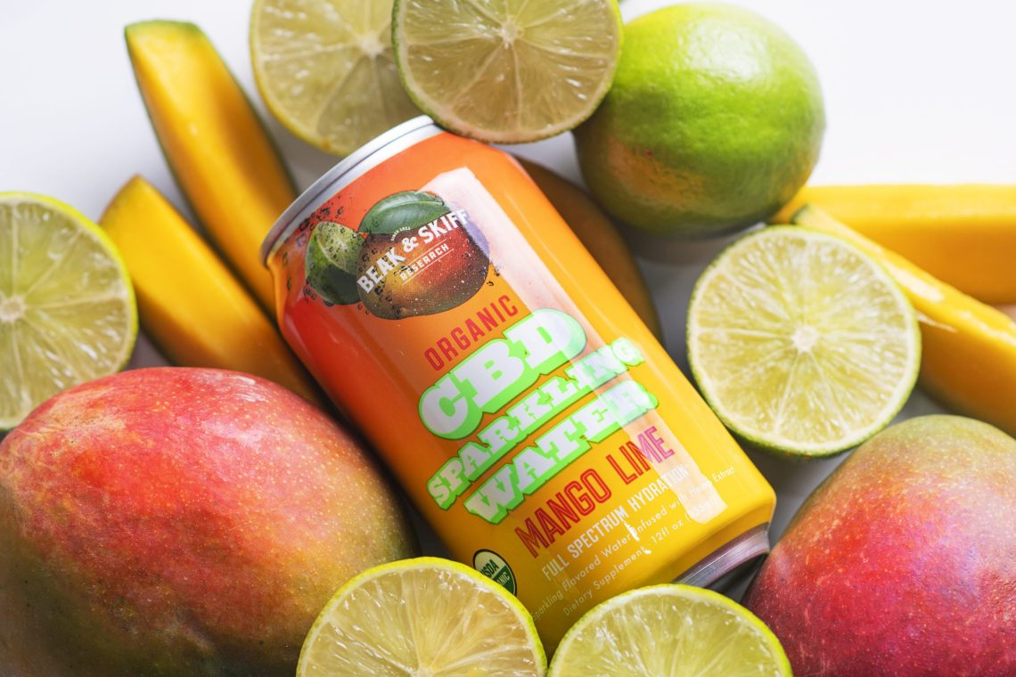 Beak & Skiff Organic CBD Sparkling Water - Mango Lime