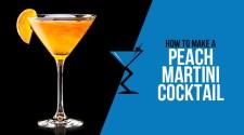 Peach Martini Cocktail