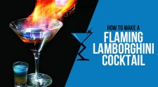 Flaming Lamborghini