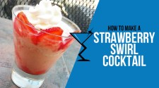 Strawberry Swirl Cocktail