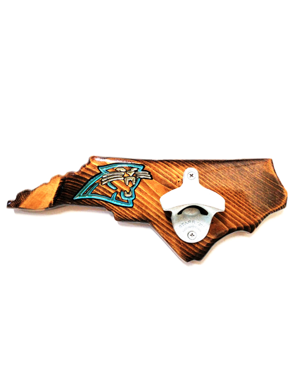North Carolina Bottle Opener - Dark Walnut