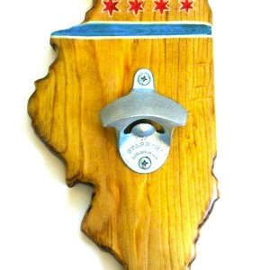 Illinois Bottle Opener - Pecan