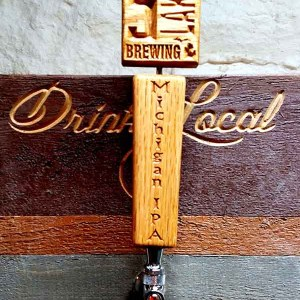 two-piece wooden tap handles
