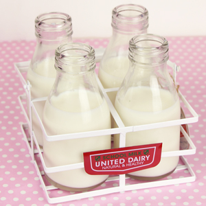 Traditional School Milk Bottles with Carry Crate