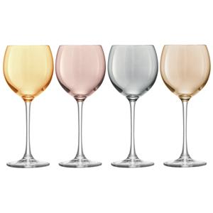 LSA Polka Metallics Wine Glasses 14oz / 400ml