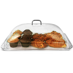 Polycarbonate Rectangular Cake Dome with Tray