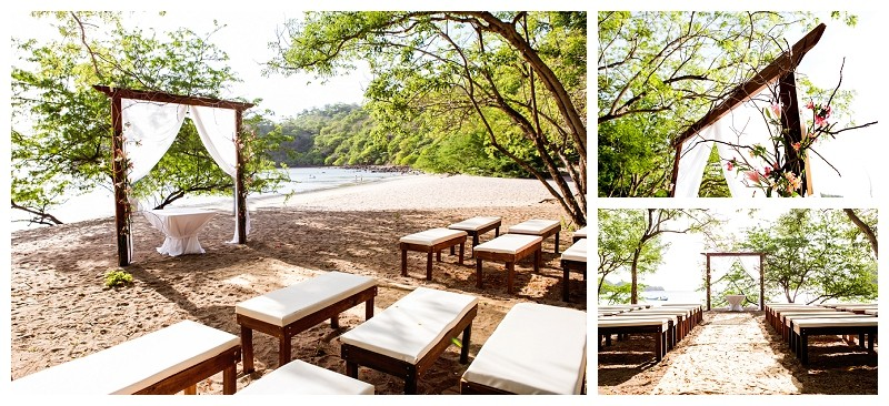 Wedding ceremony set up at Dreams Las Mareas, Costa Rica