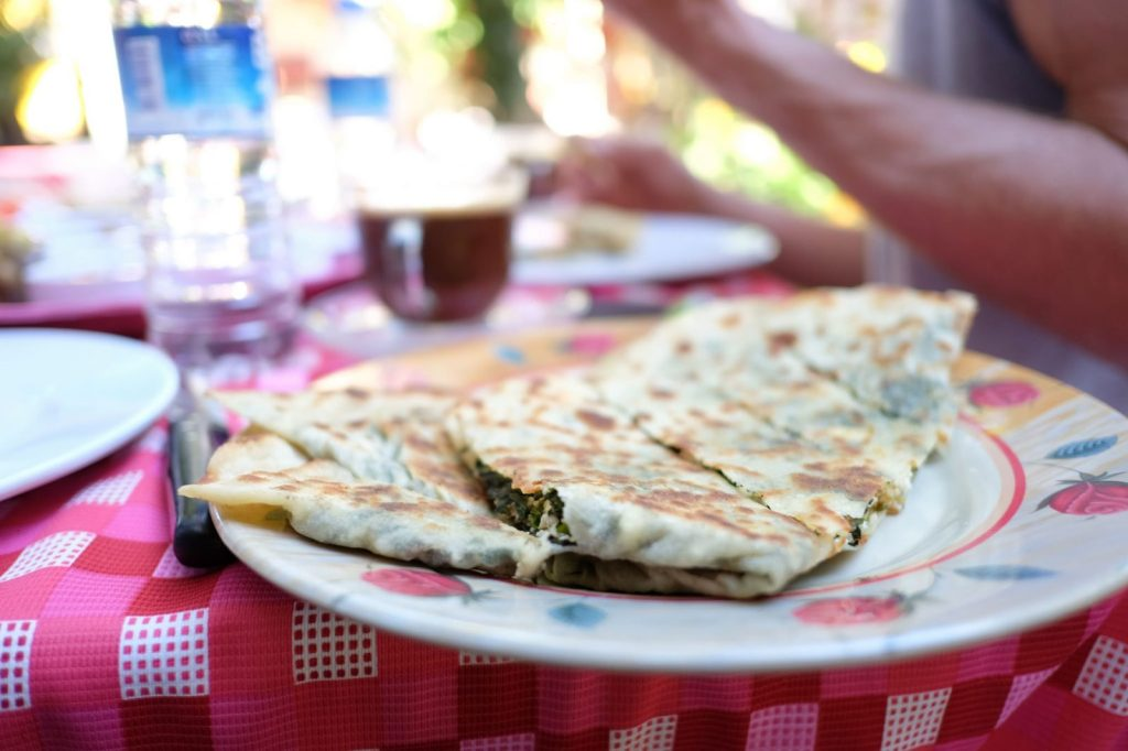 Spinach and cheese gözleme. Photo Credit: Flickr CC by Tim Lucas