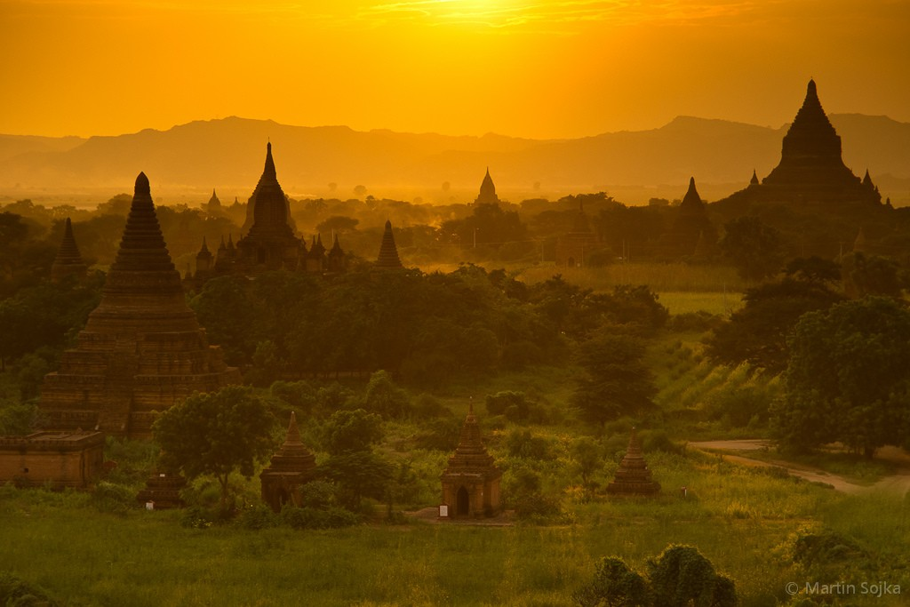 Sunset over Bagan, Myanmar (Burma)