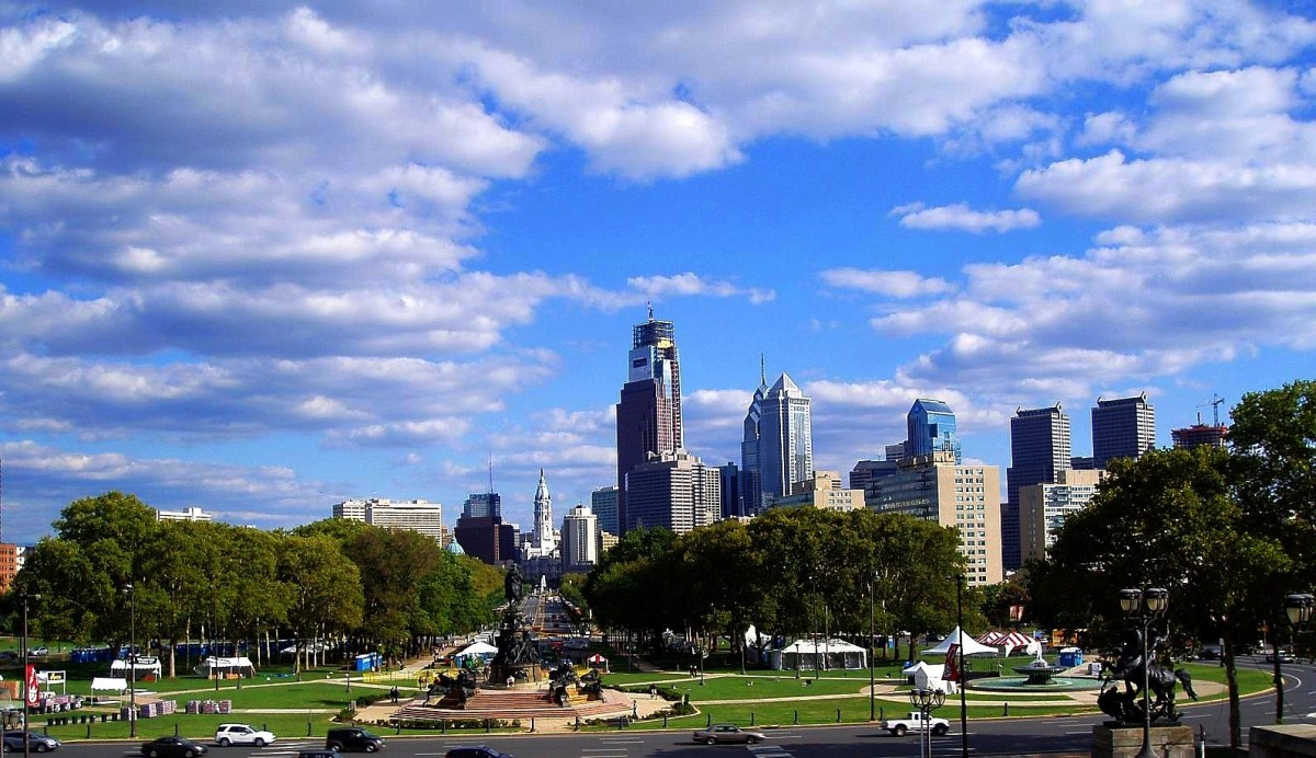 Sunny spring day in Philadelphia, PA. Photo by Lee Cannon via Flickr CC