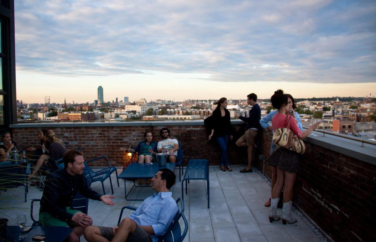 Wythe Hotel Rooftop Bar - Williamsburg, Brooklyn. Photo by Chris Goldberg via Flickr CC