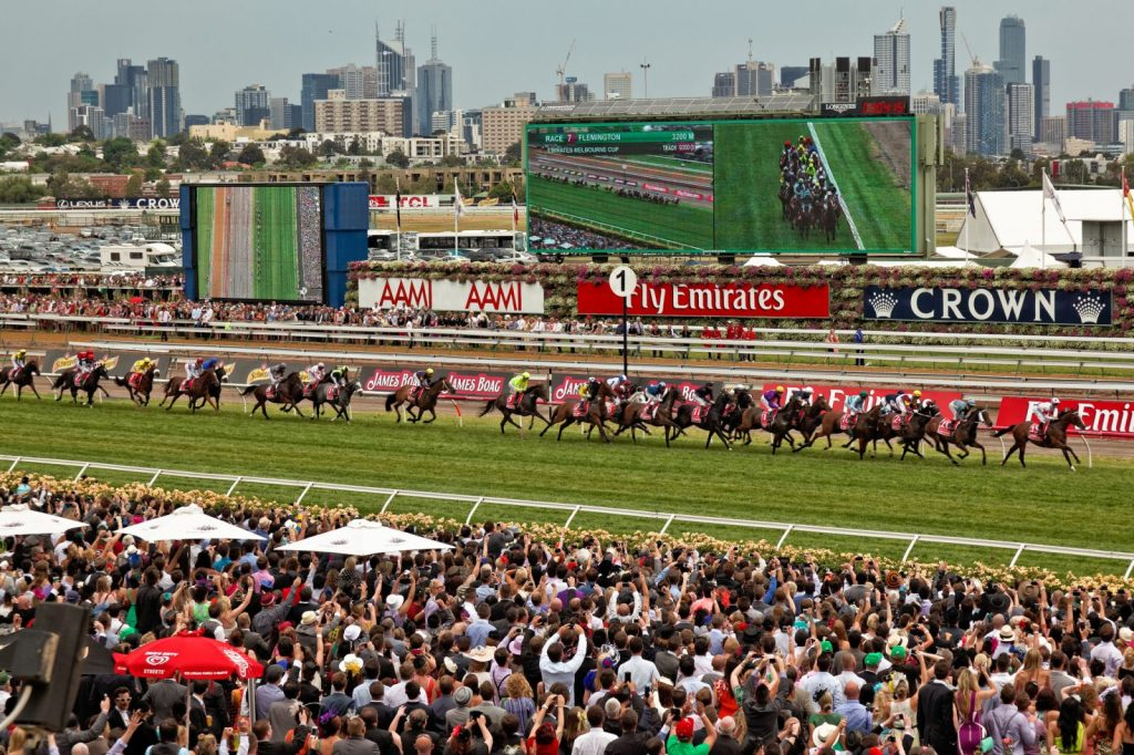 Melbourne Cup Race, Flemington Racecourse, Melbourne