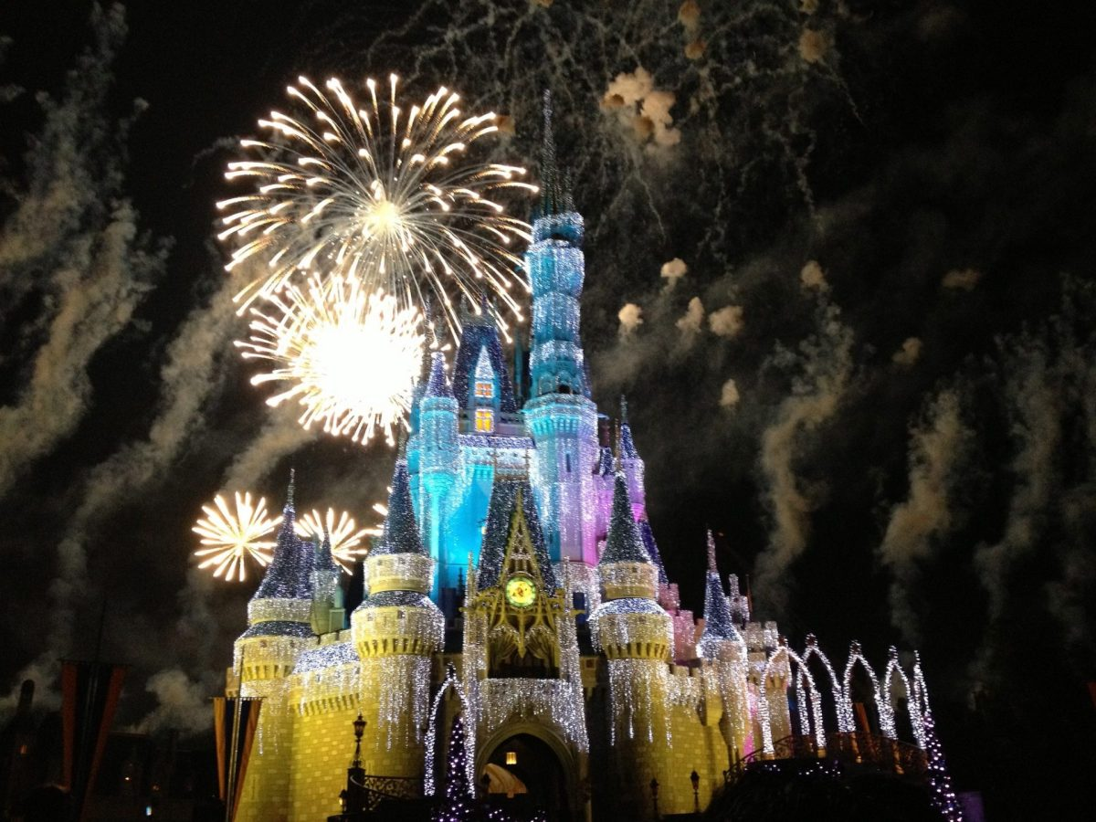 Fireworks at the Magic Kingdom Park in Disney World. Photo by Christine Urias via Flickr CC