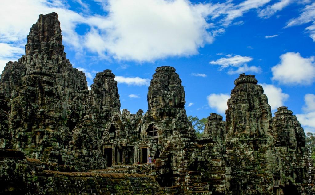 Inside Angkor Thom: Bayon Temple