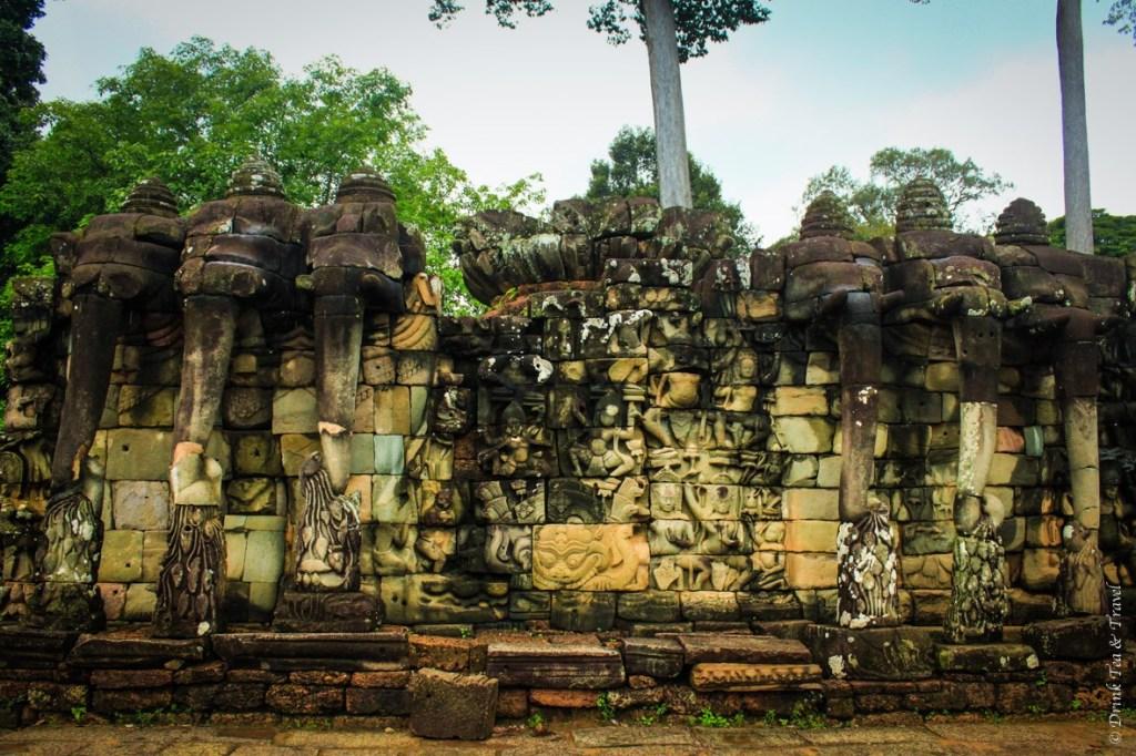 Inside Angkor Thom: Terrace of Elephants