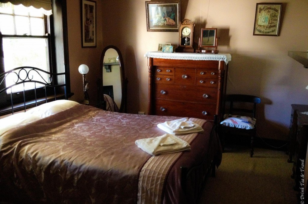Main bedroom in the Light Pass House, Barossa Valley