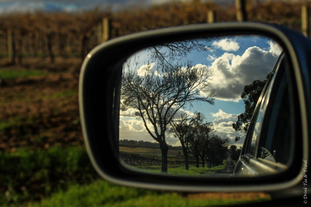 Driving down Barossa Valley Way