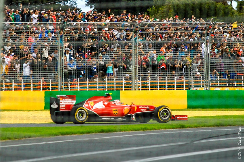 Ferrari speeding by at the Australian Grand Prix in Melbourne
