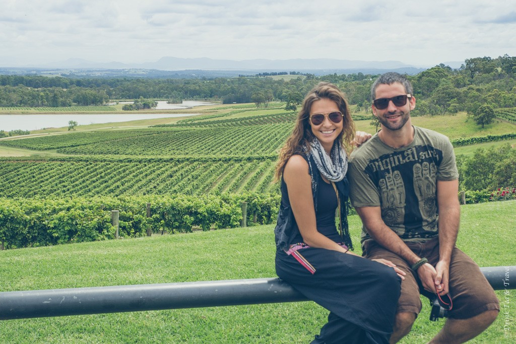 Max and I at the Audrey Wilkinson winery. Hunter Valley. NSW. Australia