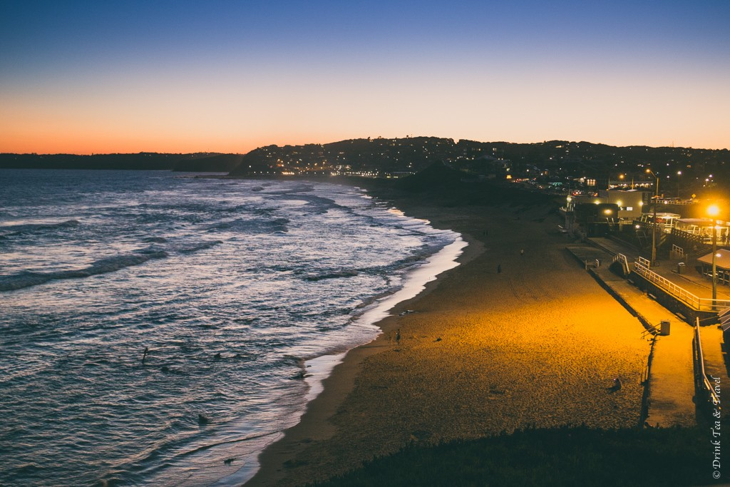 Bar Beach shortly after sunset. Newcastle. NSW. Australia