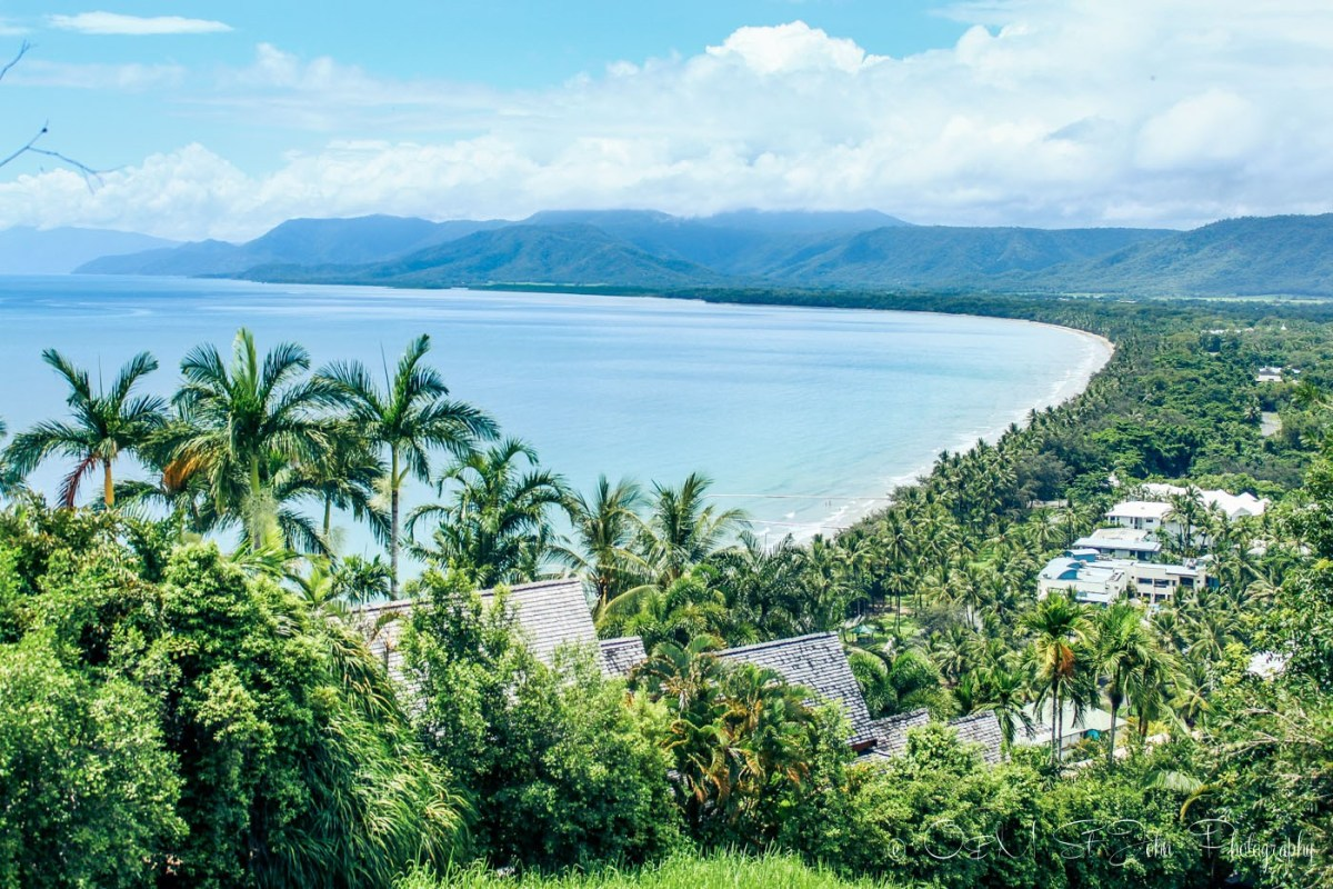 Overlooking Port Douglas, view from Flagstaff Hill lookout. Queensland. Australia