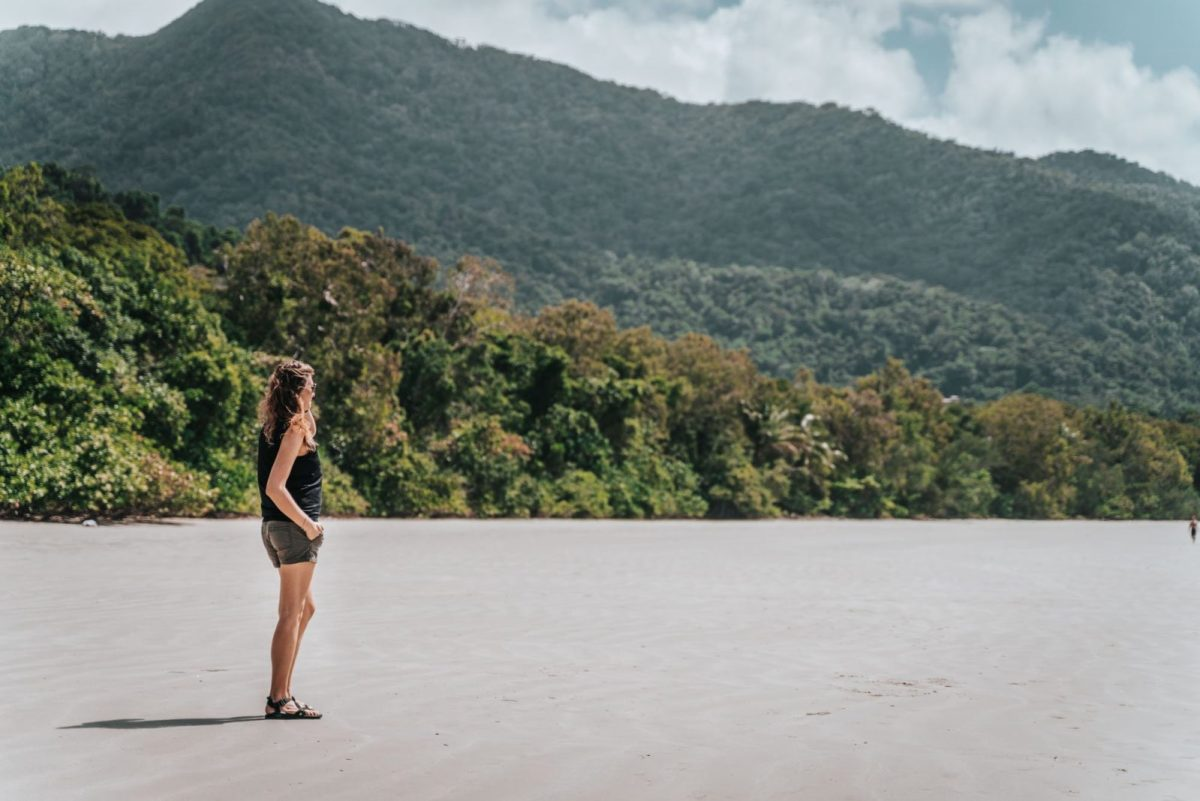 Things to do in Port Douglas: Admiring the views on Cape Tribulation Beach