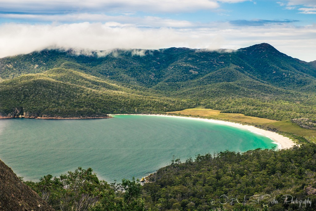 Wineglass Bay. View from the lookout, inside the Freycinet National Park