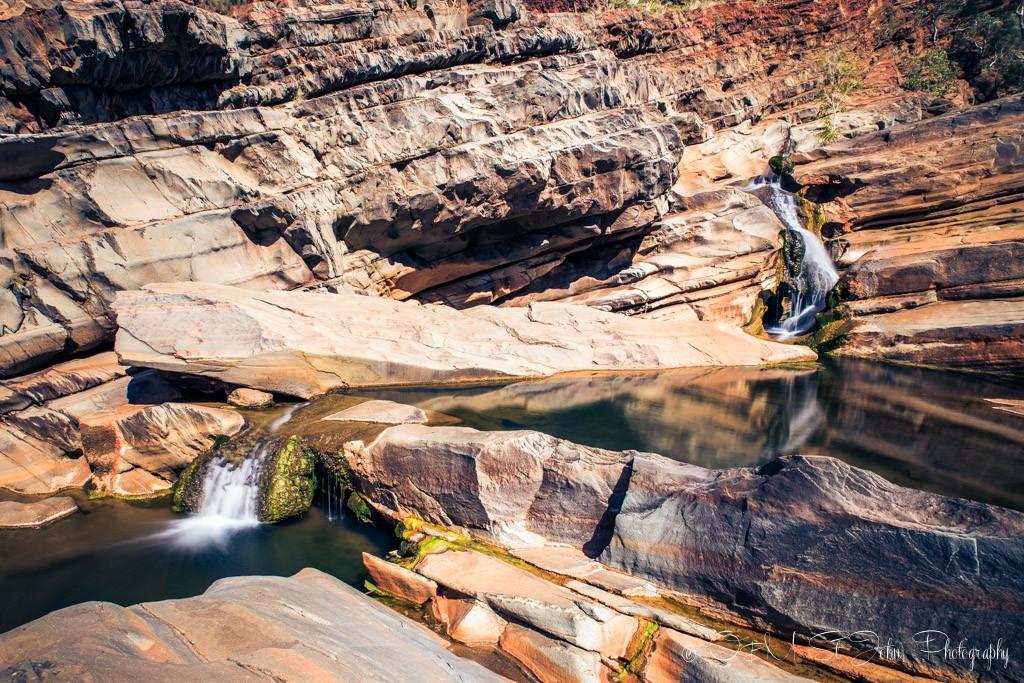 Rock pools at the Hamersley Gorge. Karijini National Park. Western Australia