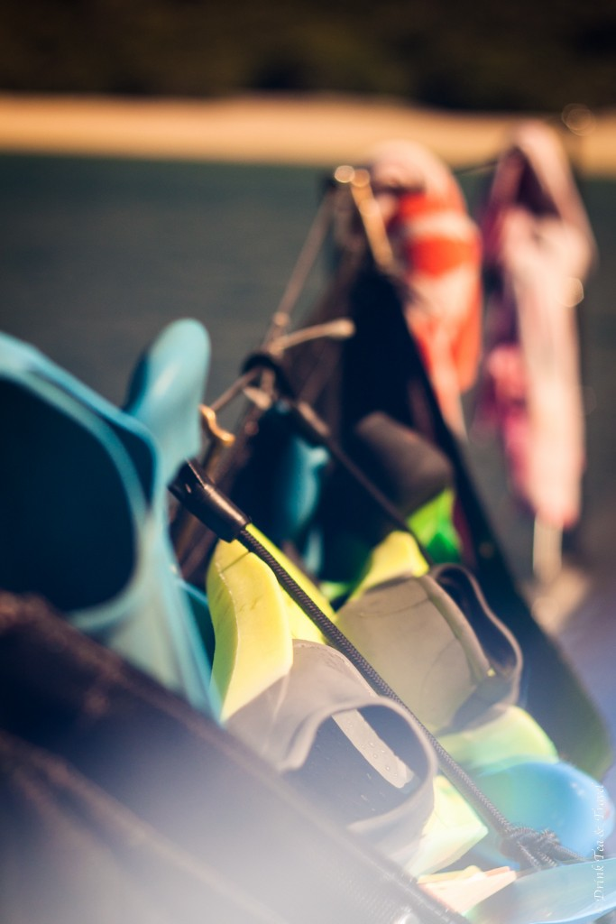 Finns, masks and other gear. - everything you need for a good snorkeling session in the Whitsundays.