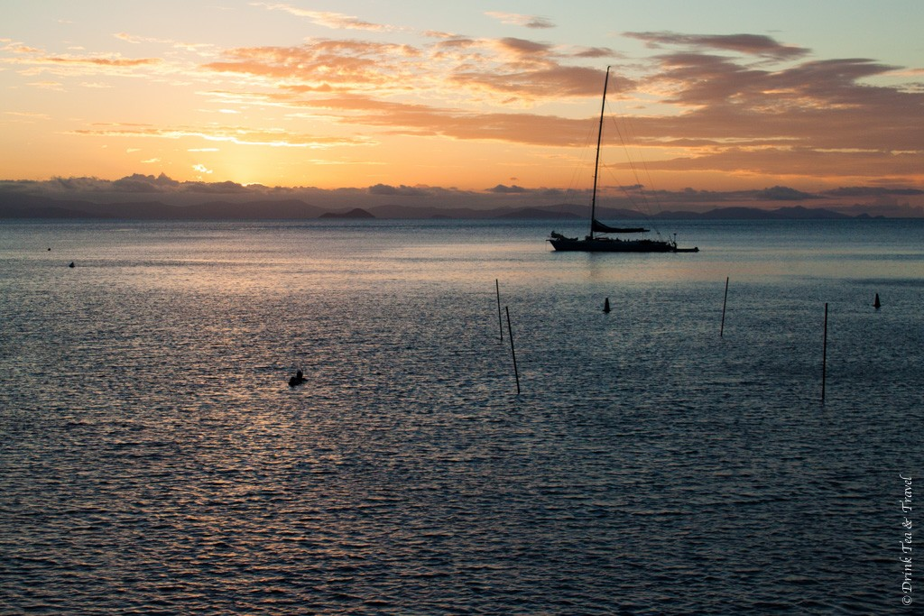 Sunset. Sailing Whitsundays. Australia