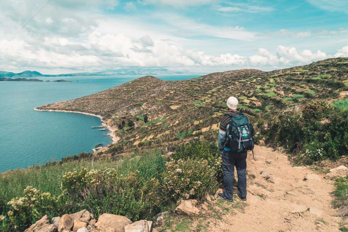 Overlooking the agricultural terraces on Isla del Sol