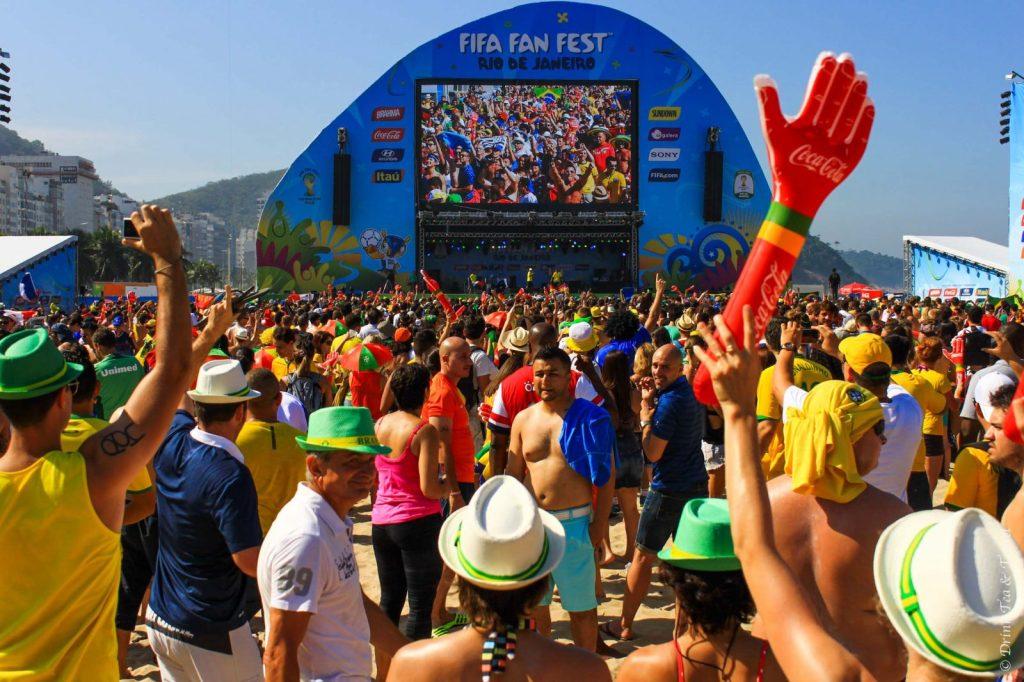 Germany vs France match at the FIFA Fan Fest in Rio de Janeiro, Brazil