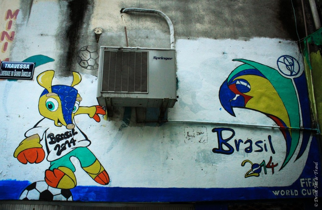 World Cup graffiti on the streets in Rocinha, largest favela in Rio de Janeiro