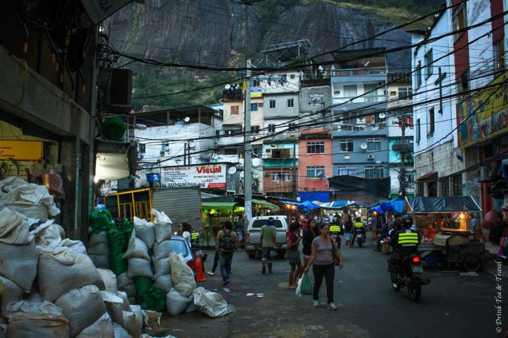 Main square in Rocinha largest favela in Rio de Janeiro