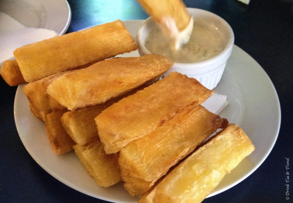 Brazilian dishes: yuca fries
