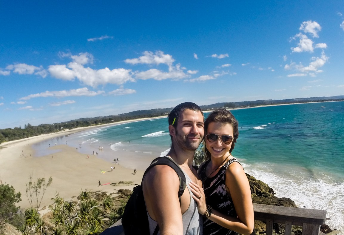 Max & Oksana in Byron Bay, Queensland, Australia