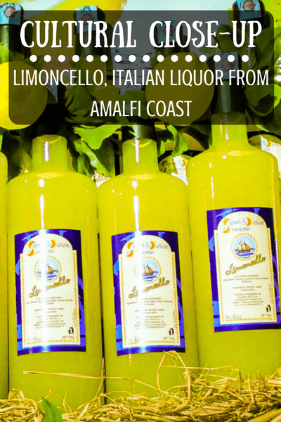 This week's Cultural Close-up is a famous Italian liquor - Limoncello, known as the local specialty of the Amalfi Coast.