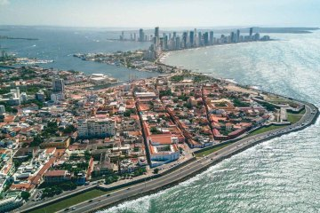 Travel in Colombia. Cartagena from above