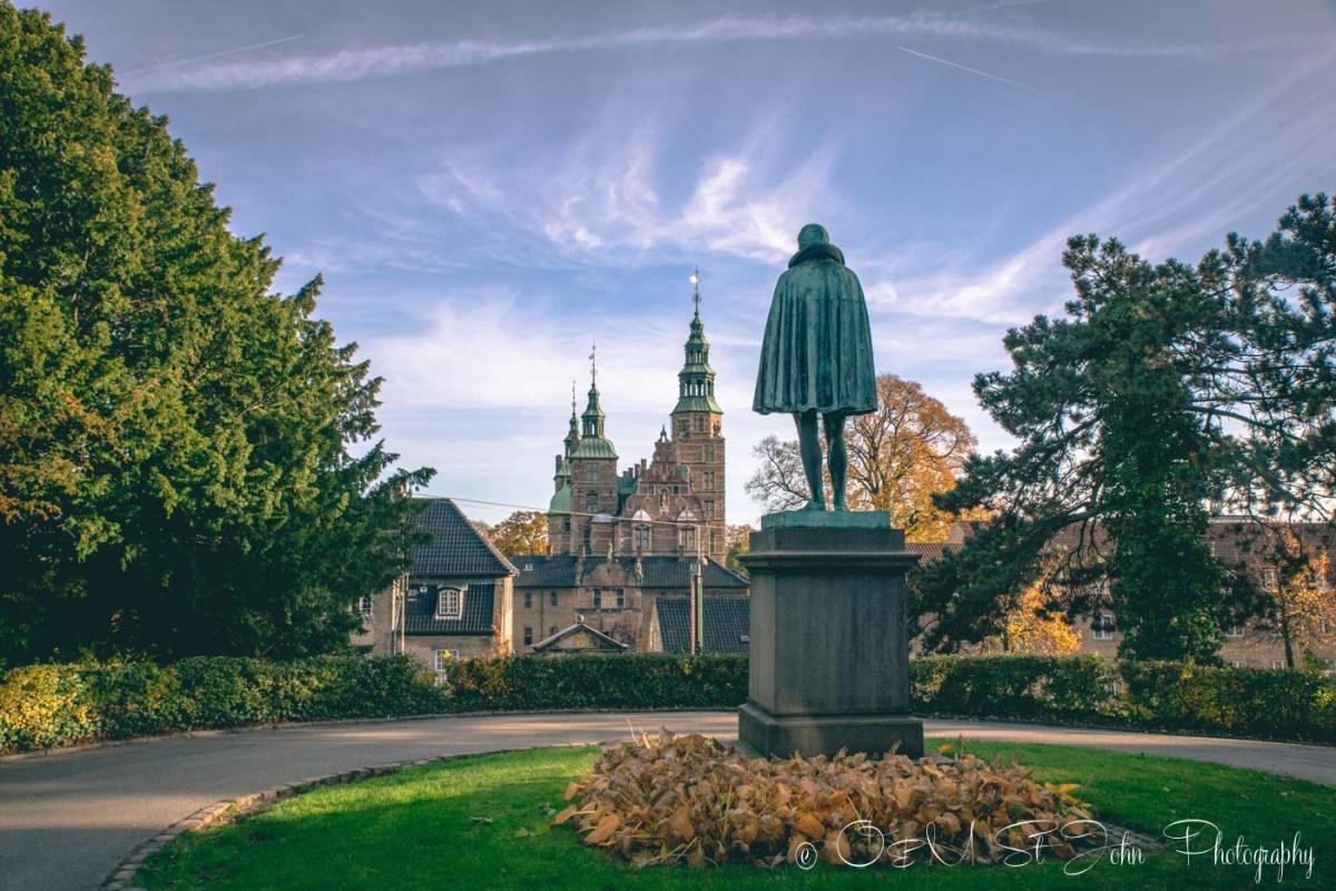 Rosenborg Castle and Garden grounds in Copenhagen. Denmark