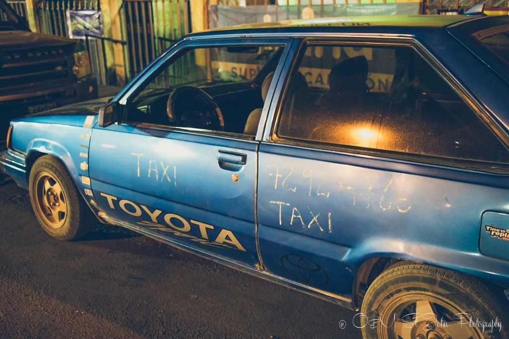 A local taxi in Paraiso, Guanacaste, Costa Rica
