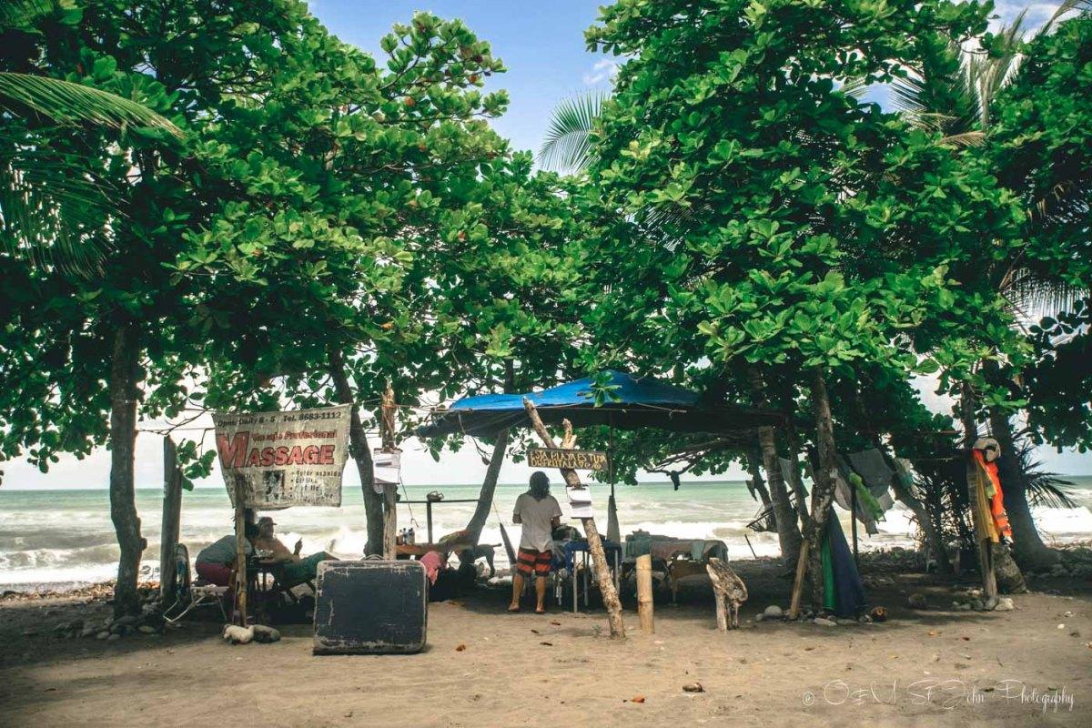 Massage Parlour on Dominical Beach, Costa Ballena. Costa Rica