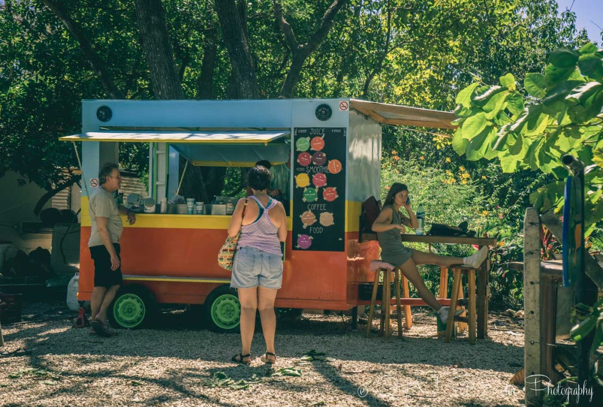 Go Juice Truck at Playa Guiones. Nosara. Costa Rica