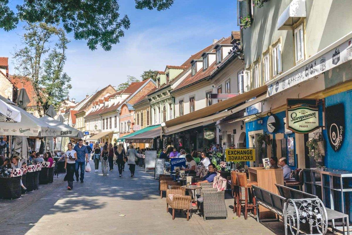 Ivana Tkalčića Street in Upper Town, Zagreb