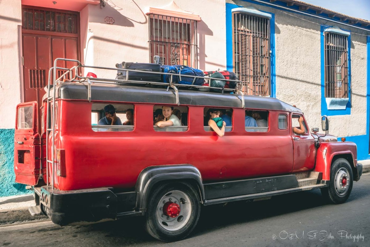 Colectivo taxi headed to Baracoa, Cuba