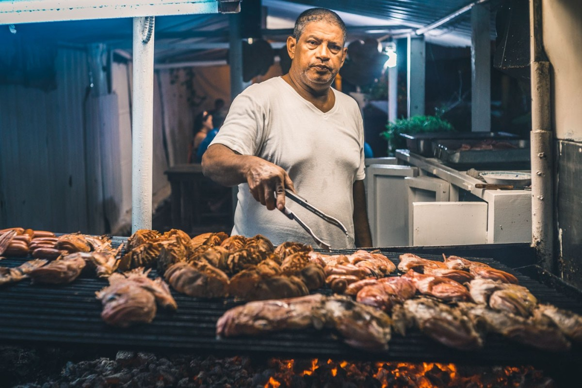 Chef at Parilladas San Jose is cooking up a storm on his back yard grill