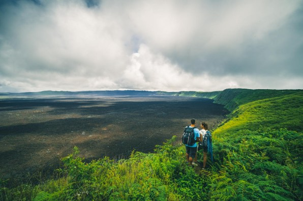 Looking into the caldera of Cerro Negro volcano